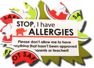 Allergy Card Cutout